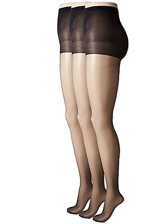 1ae535ea4 Hue So Silky Sheer Control Top Pantyhose (3-Pack) (Black) Control