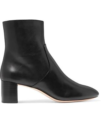 Loeffler Randall Gema Leather Ankle Boots - Black