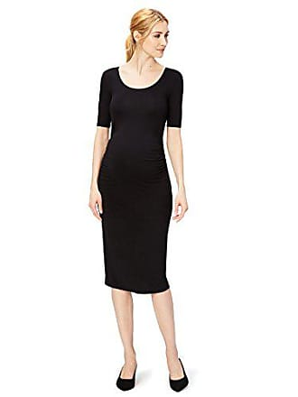 Daily Ritual Womens Maternity Short Sleeve Dress, Black, X-Large
