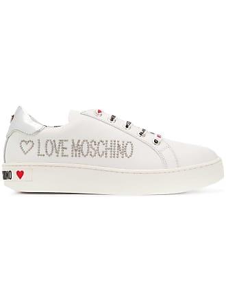 Love Moschino logo sneakers - White