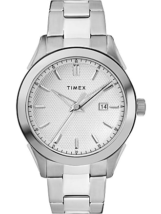 Timex Watch Mens Torrington 40MM Stainless Steel Bracelet With Date Steel/stainless Steel/silver-Tone Item Tw2R90500Vq