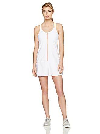 Trina Turk Recreation Womens Color Blocked Tennis Dress, White, L