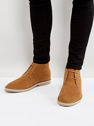 Asos ASOS - Desert boots in pelle scamosciata sintetica color cuoio - Cuoio af2f50f3b7f