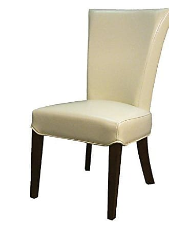 New Pacific Direct 148A-2050 Bentley Bicast Leather, Set of 2 Dining Chairs, Beige