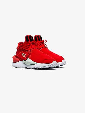 64e494966951f Yohji Yamamoto red Kaiwa striped low top sneakers
