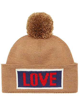 00d9cc39995 Fendi Love slogan beanie hat - Neutrals