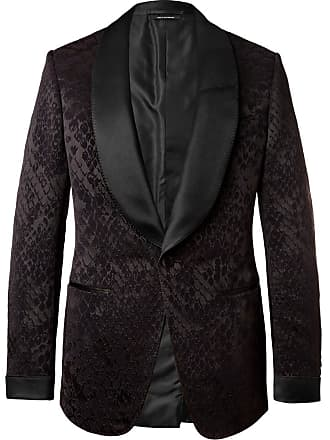 c9894ddec4886c Tom Ford Black Shelton Slim-fit Satin-trimmed Snake-jacquard Velvet Tuxedo  Jacket
