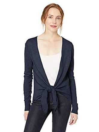 Daily Ritual Womens Lightweight Tie-Front Cardigan, Navy, Medium