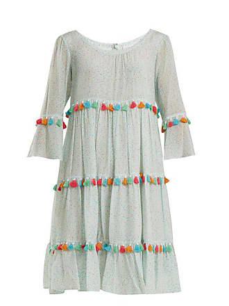 Athena Procopiou Spring Rainbow Tassel Trimmed Tiered Silk Dress - Womens - Light Green