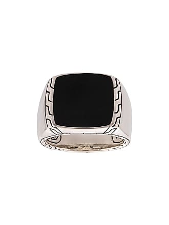John Hardy Classic Chain jade signet ring - Silver