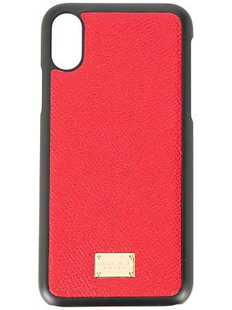 Dolce & Gabbana Capa para iPhone X de couro - Vermelho