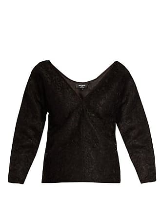Rochas Off The Shoulder Floral Lace Top - Womens - Black