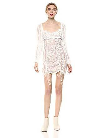 dc72c66ae506b For Love & Lemons Womens Monroe Mini Dress, White, Small