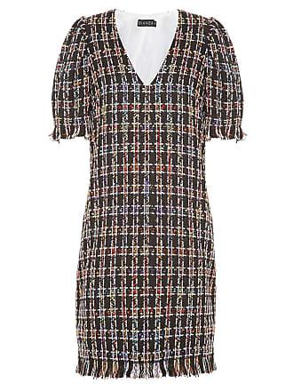 Bianza Vestido tubinho em tweed - Multicolorido