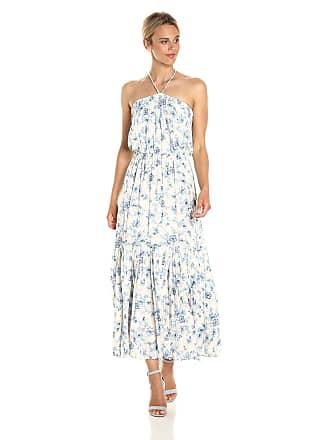 11f0a329f767 Moon River Womens Floral Print Halter Neck Sun Maxi Dress