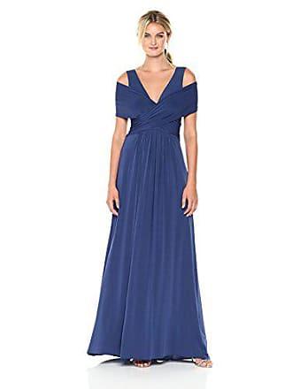 Bcbgmaxazria BCBGMax Azria Womens Tamara Cold Shoulder Knit Gown with Slit, Blue Depths, M