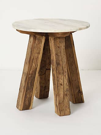 Anthropologie Marble-Top Side Table