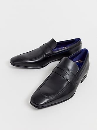Ted Baker Galah penny loafers in black leather - Black