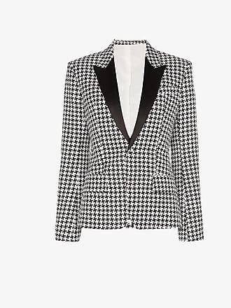 Haider Ackermann houndstooth silk blend blazer jacket