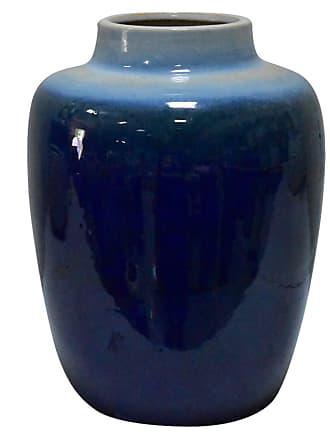 Three Hands Blue Gradient Ceramic Urn Vase - 32165