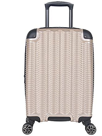 Kenneth Cole Reaction Kenneth Cole Reaction Wave Rush 20 Lightweight Hardside PET 8-Wheel Spinner Expandable Carry-On Suitcase, Champagne