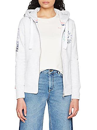 b66e72cd0edc6 Superdry Track   Field, Sweat à Capuche Femme, Grigio (Ice Marl),
