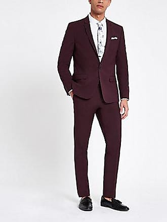 River Island Mens Purple stretch skinny fit suit pants