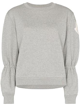 Moncler logo patch gathered sweatshirt - Grey