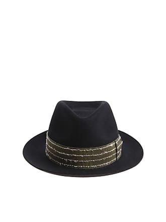 dcabaab13e287b Borsalino Rasato black hat with green insert