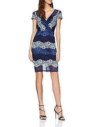 76811116961a Paper Dolls Stripe Lace Bodycn, Vestito Donna, Blu (Blue 001), 46
