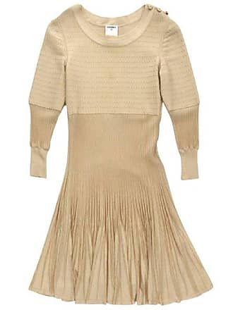 7dec9291830 Chanel Dress In Beige Viscose And Stretch Silk Size 34fr