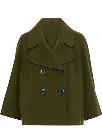 Elie Tahari Elie Tahari Woman Double-breasted Wool-felt Coat Dark Green Size XL