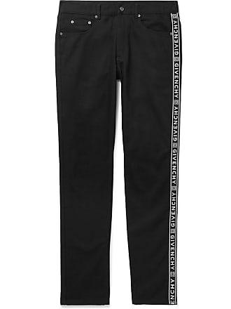 Givenchy Slim-fit Logo-jacquard Denim Jeans - Black