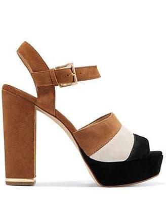 Michael Kors Michael Michael Kors Woman Color-block Suede Platform Sandals Light Brown Size 11