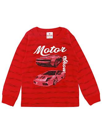 Brandili Camiseta Brandili Menino Estampado Vermelha