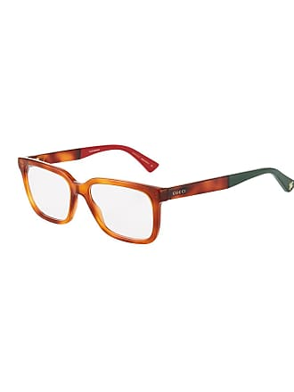 Gucci Square Havana Acetate Optical Glasses