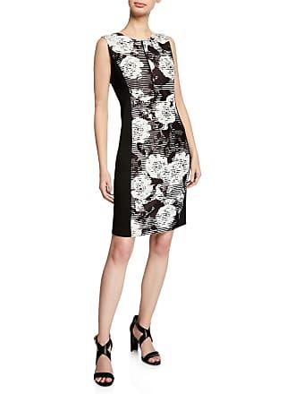 4f0c3c181c7 DKNY Printed Front-Zip Side Panel Sheath Dress