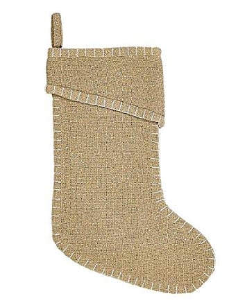 VHC Brands Christmas Holiday Decor - Nowell Tan Stocking, 15 x 11, Natural