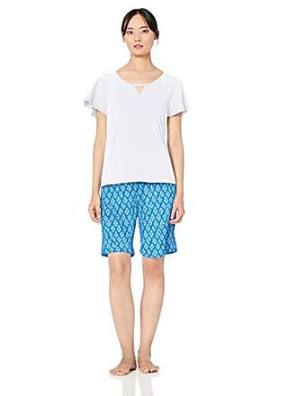 Karen Neuburger Womens Plus Size Short Sleeve Top and Bermuda PJ Set with  Wicking Technology e845f03cb