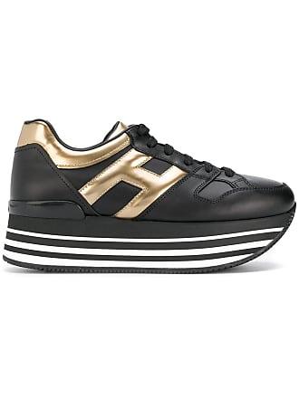 Hogan logo platform sneakers - Black
