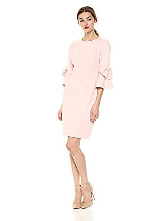 f3f5ae80cca1b7 Donna Morgan Womens 3 4 Bell Sleeve Shift Dress with Bow Detail