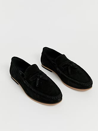 c2d2cfcb255 Asos tassel loafers in black suede with natural sole