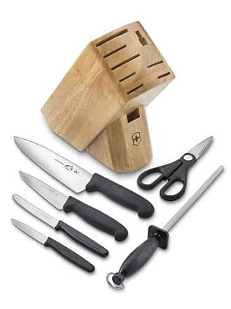 Victorinox by Swiss Army Swiss Army Cutlery Fibrox Pro Knife Block Set, 7-Piece
