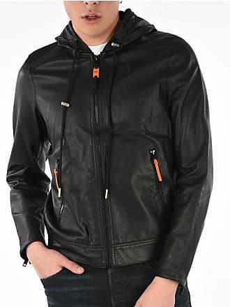 Diesel Leather Hooded L-RESTIL Jacket size Xxl