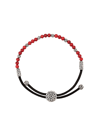 John Hardy classic chain round beads bracelet - Red