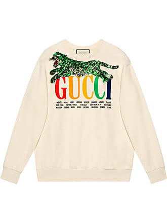 1df52d90 Gucci Gucci Cities sweatshirt with sequin panther - White