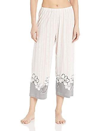 5da217502 Hue Womens Printed Knit Capri Pajama Sleep Pant, Lotus - Flora Border, Small