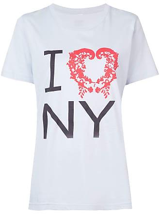 Rosie Assoulin Camiseta com estampa frontal - Azul