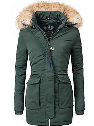 6cb03cb14083f8 Navahoo Damen Winter-Jacke Winter-Mantel Schneeengel (vegan hergestellt)  Grün Gr.