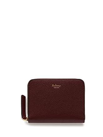 f71fbd2b29635f Mulberry Kleines Zip Around Portemonnaie in Leder mit klassischer Narbung  in Burgunderrot